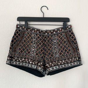 ZARA Embellished Tribal Shorts